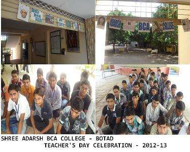 Adarsh BCA College- Teachers day